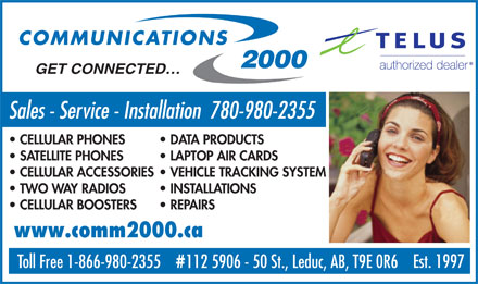 Communications 2000 (780-987-0604) - Display Ad