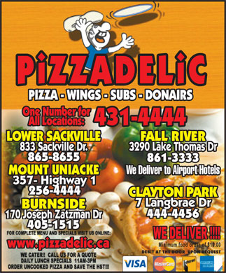 Pizzadelic (902-865-8655) - Display Ad