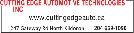 NAPA Autopro - Cutting Edge Automotive Technologies Inc (204-669-1090) - Annonce illustrée - www.cuttingedgeauto.ca www.cuttingedgeauto.ca