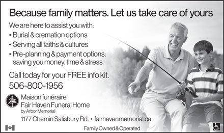 Fair Haven Funeral Home (506-800-1956) - Display Ad