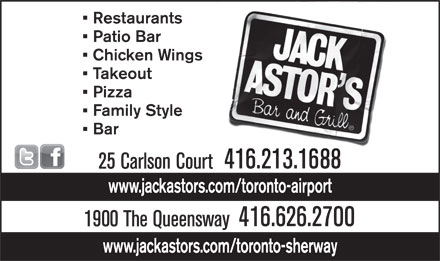 Jack Astor's (416-626-2700) - Display Ad