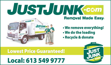 Just Junk (613-549-9777) - Annonce illustr&eacute;e