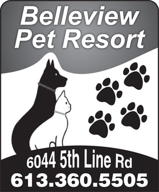 Belleview Pet Resort (613-360-5505) - Annonce illustrée - 613.360.5505  613.360.5505