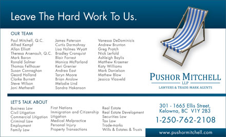 Pushor Mitchell LLP (250-762-2108) - Display Ad