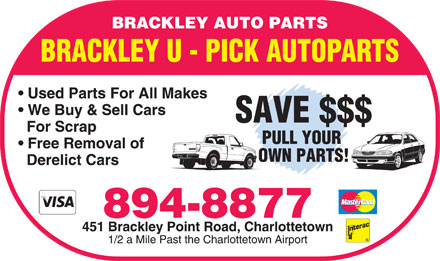 Brackley Auto Parts (902-894-8877) - Annonce illustrée