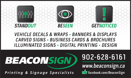 Beacon Sign (902-628-6161) - Display Ad