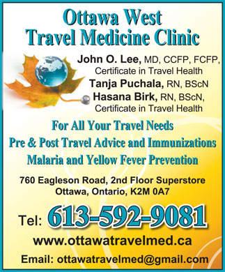 Ottawa West Travel Medicine Clinic (613-592-9081) - Annonce illustrée