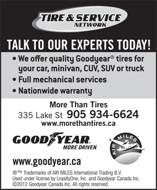 More Than Tires - Goodyear (905-934-6624) - Display Ad