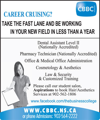 Cape Breton Business College (902-564-2222) - Display Ad