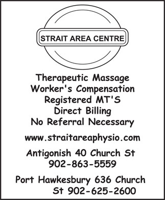 Strait Area Physiotherapy (902-625-2600) - Display Ad