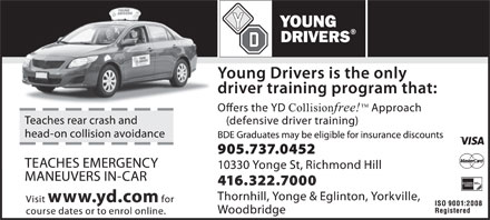 Young Drivers Of Canada (905-737-0452) - Annonce illustrée