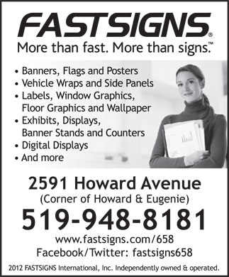 Fastsigns (519-948-8181) - Annonce illustr&eacute;e