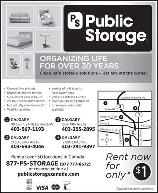 Public Storage (1-877-777-8672) - Annonce illustr&eacute;e
