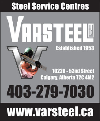 Varsteel Ltd (403-279-7030) - Display Ad