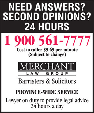 Merchant Law Group LLP (1-900-561-7777) - Display Ad