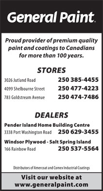 General Paint (250-385-4455) - Display Ad