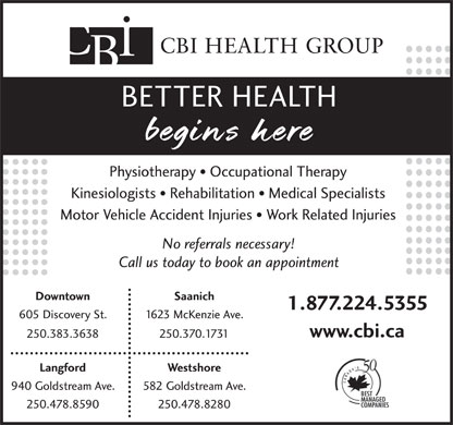 CBI Health Centre (250-383-3638) - Display Ad