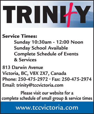 Trinity Church (250-475-2972) - Display Ad