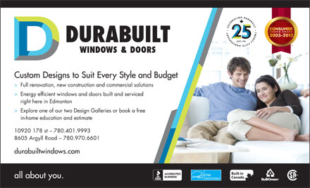Durabuilt Windows & Doors (780-401-9515) - Display Ad