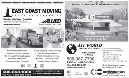 All World Moving & Storage (506-387-7730) - Display Ad