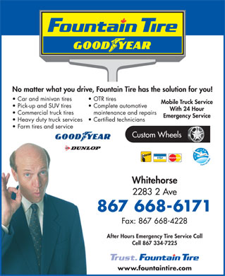 Fountain Tire (867-668-6171) - Display Ad