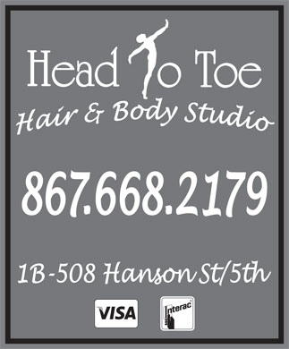 Head to Toe (867-668-2179) - Display Ad