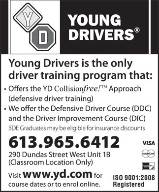 Young Drivers Of Canada (613-965-6412) - Annonce illustrée