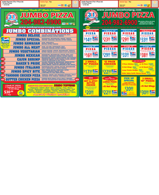 Jumbo Supreme 3 For 1 Pizza Ltd (204-982-6900) - Menu