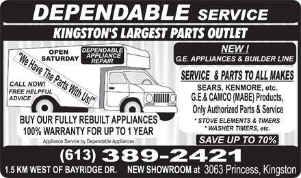 Dependable Appliances (613-389-2421) - Display Ad