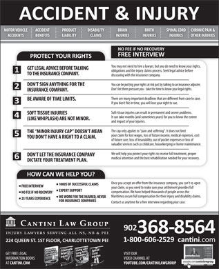 Cantini Law Group (902-368-8564) - Display Ad