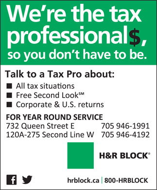 H&R Block (705-946-1991) - Display Ad