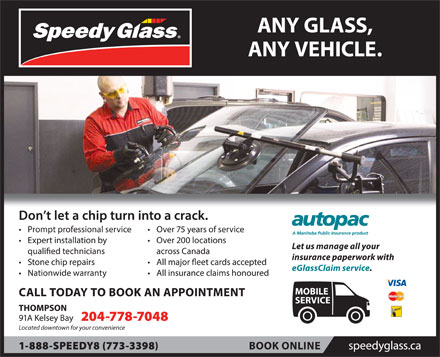 Speedy Glass (204-778-7048) - Display Ad