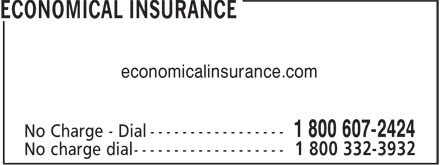 Economical Insurance (1-800-607-2424) - Annonce illustrée - economicalinsurance.com