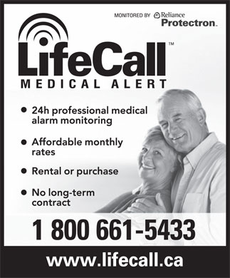 LifeCall (1-800-661-5433) - Display Ad