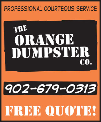The Orange Dumpster Co (902-679-0313) - Display Ad