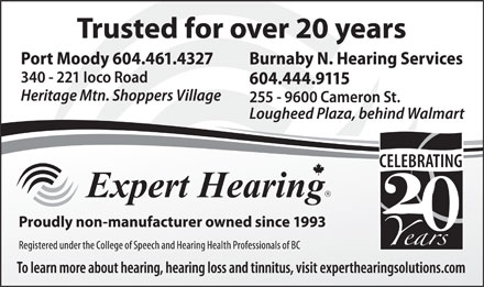 Expert Hearing Solutions Ltd (604-461-4327) - Display Ad