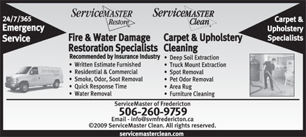 ServiceMaster Clean Of Fredericton (506-458-1113) - Display Ad