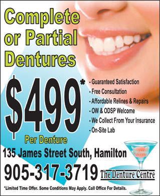 The Denture Centre (905-317-3719) - Display Ad