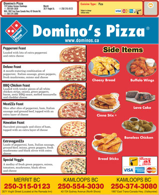 Domino's Pizza (250-554-3030) - Menu