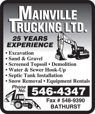 Mainville Trucking Ltd (506-546-4347) - Display Ad