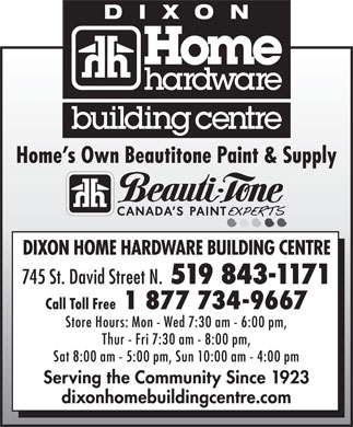 Home Hardware Building Centre (519-843-1171) - Display Ad