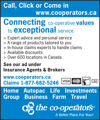 The Co-operators (1-877-682-5246) - Display Ad