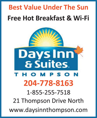 Days Inn And Suites (1-888-649-7173) - Annonce illustrée