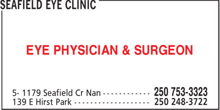 O'Donnell Michael Dr (250-753-3323) - Annonce illustrée - EYE PHYSICIAN & SURGEON EYE PHYSICIAN & SURGEON